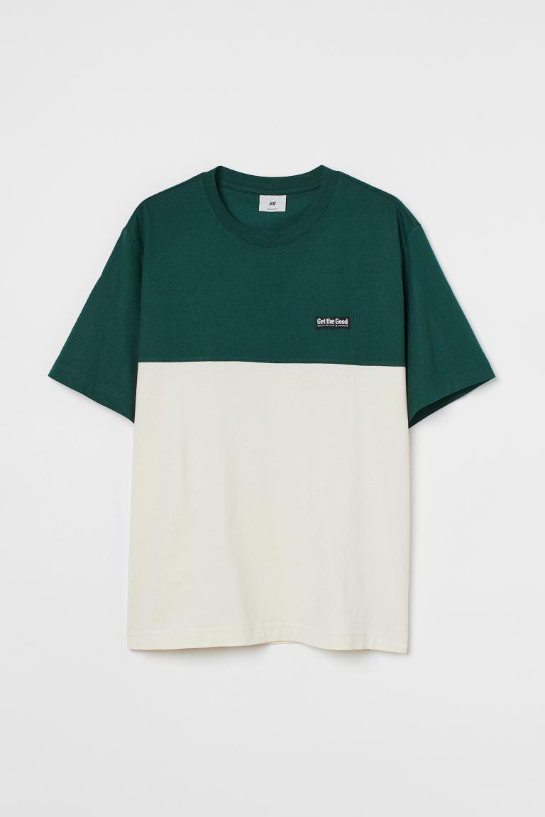 H&M Color Block T-Shirt Image