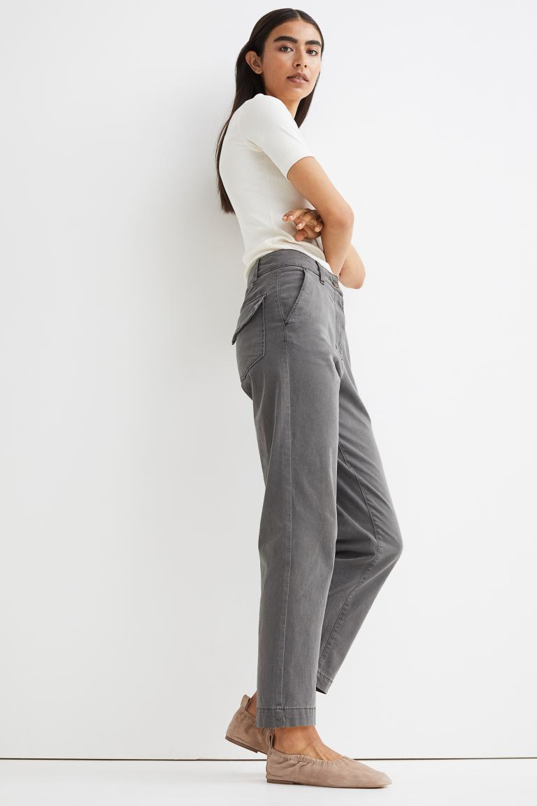 H&M Cotton Twill Chinos Image