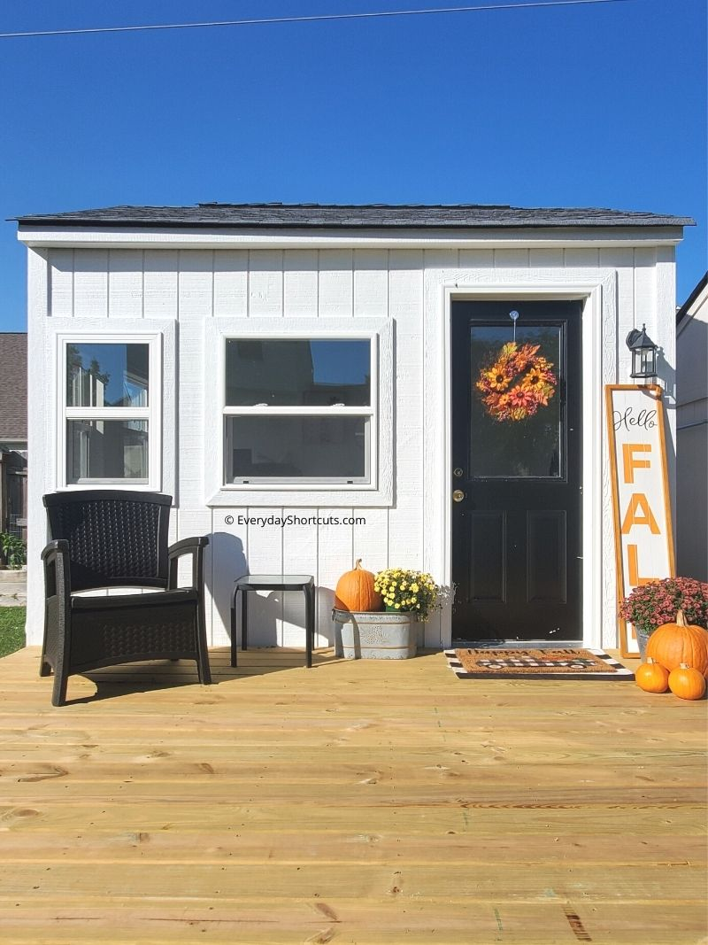 she shed front porch ideas