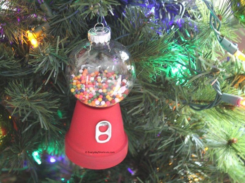 How to Make a Mini Gumball Machine Christmas Ornament