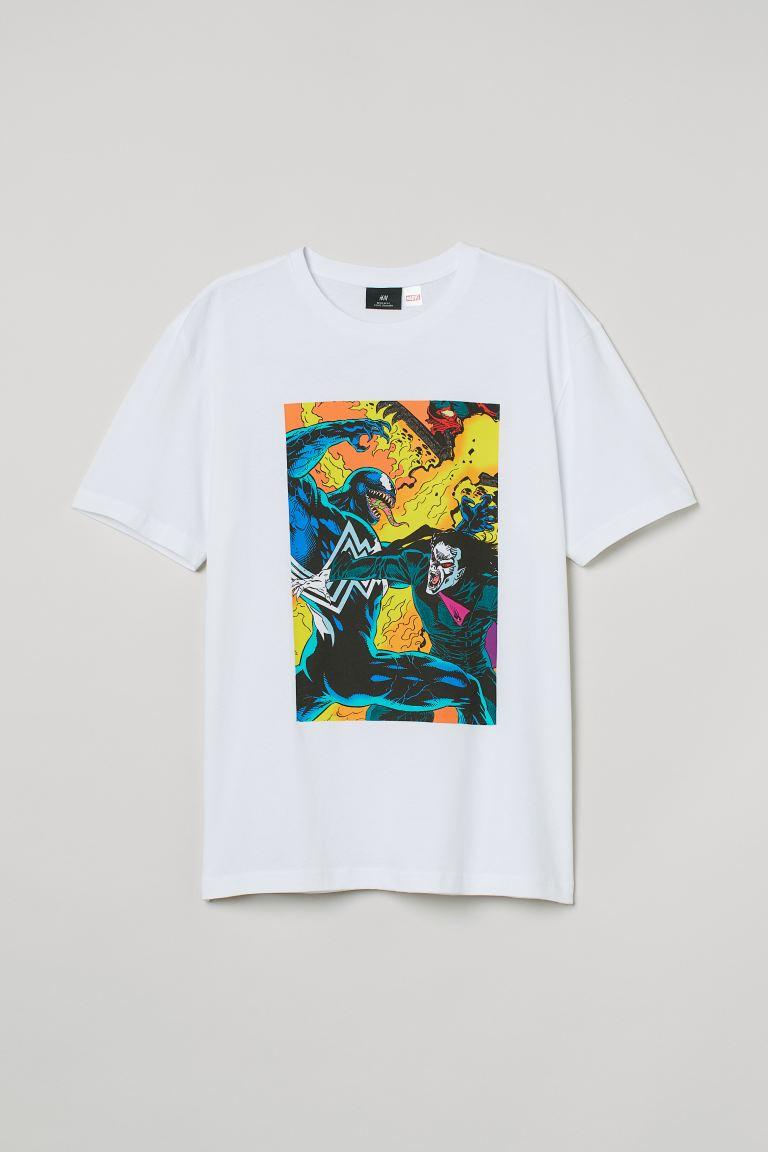 H&M Marvel Comics Regular Fit T-Shirt Image