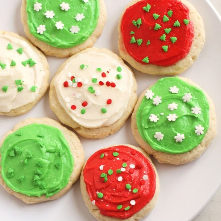 Lofthouse Style Christmas Frosted Sugar Cookies {Gluten Free}