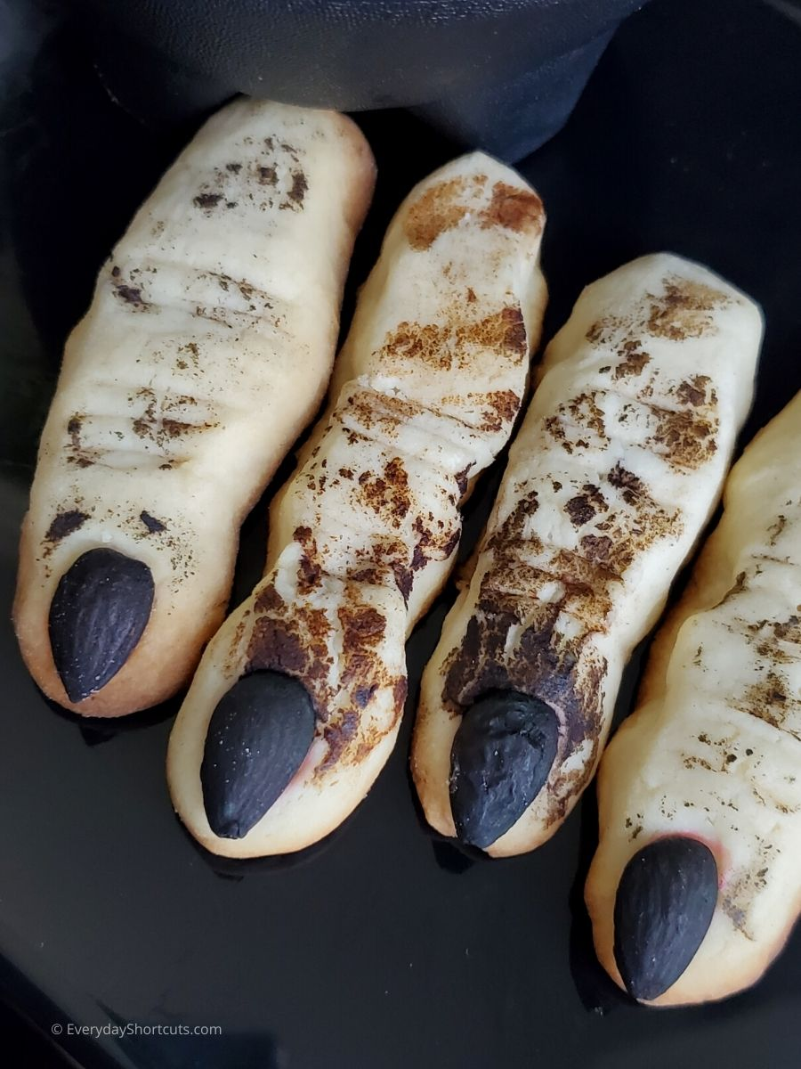 Witch Finger Cookies for Halloween