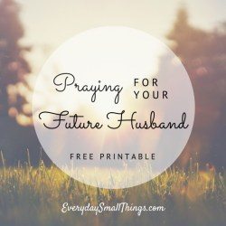 Praying For Future Husband