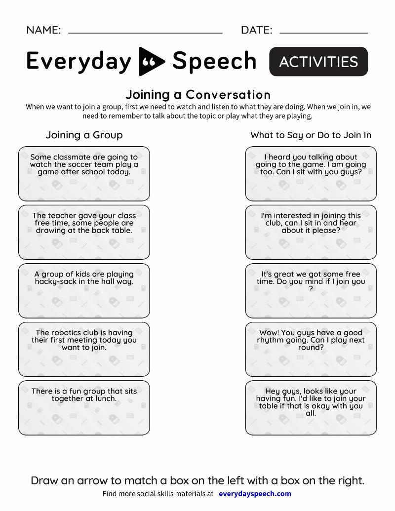 Social Emotional Learning Program Everyday Speech