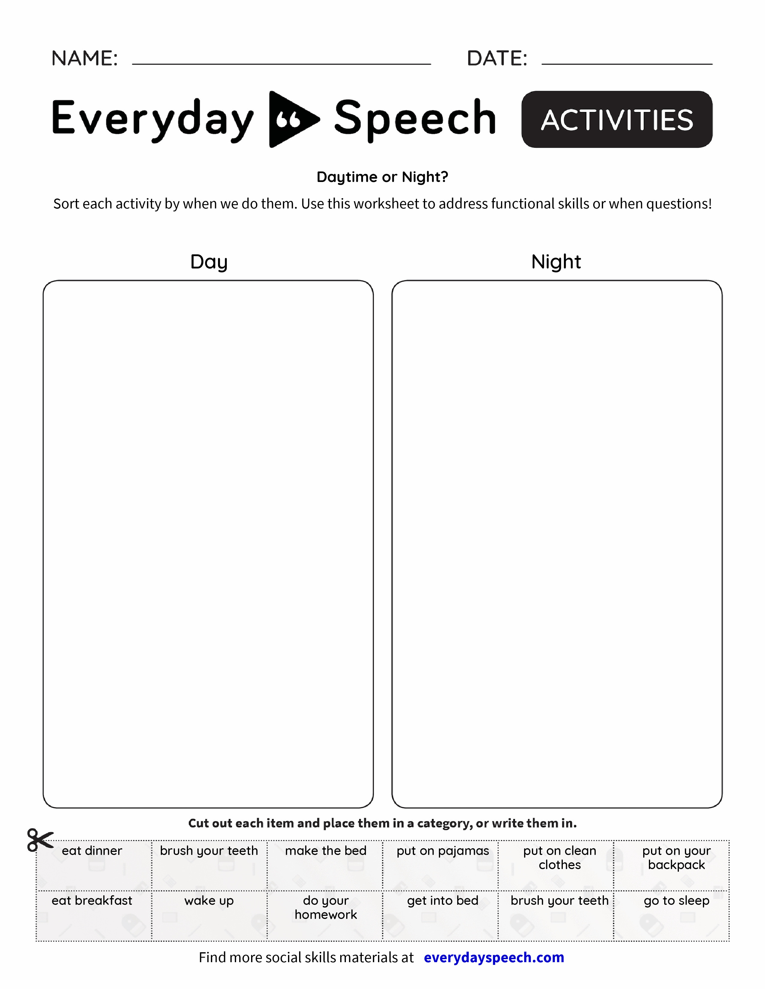 D Ytime Night Everyd Y Speech Everyd Y Speech