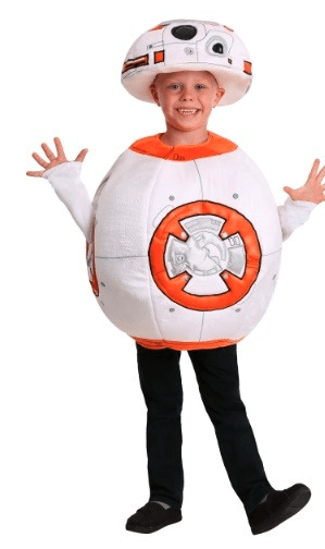 cold weather costume idea for kids bb8