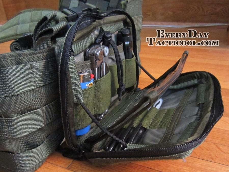 Tactical Tailor Admin Pouch Enhanced Open On Vest