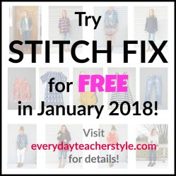 Try Stitch Fix for FREE in January 2018