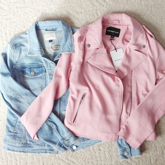 Target spring jackets faded denim jacket pink moto jacket