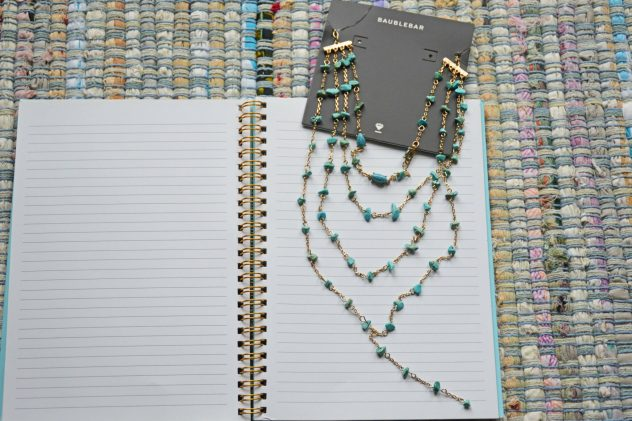 bauble bar mitra layered turquoise y necklace