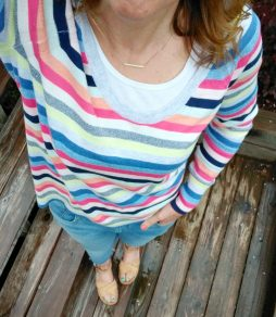 Spring Gap Crazy Stripe Sweater