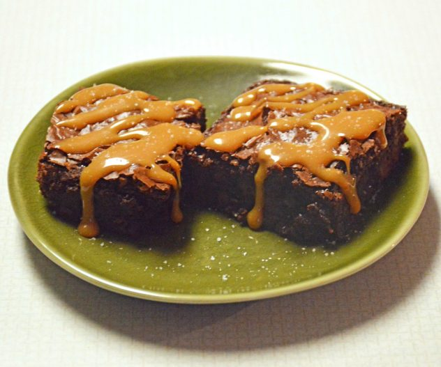 Triple Fudge Brownies with Salted Caramel Sauce Recipe