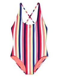 gap crazy stripe crossback one piece suit