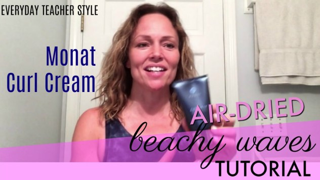 How To Get Beachy Waves Monat Curl Cream