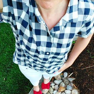 red white and blue with gingham