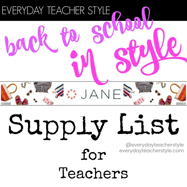 Back to School in Style Supply List for Teachers