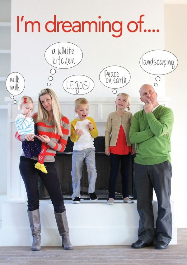 speech bubble photo family holiday christmas card