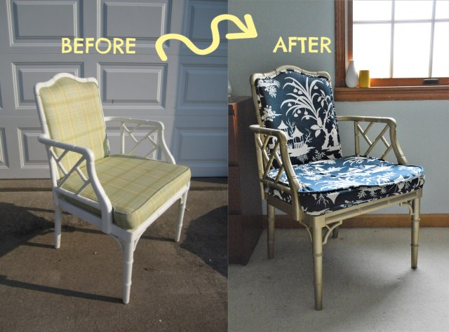 Chinese Chippendale Style Chair Thrifted Chinoiserie Upholstery Makeover Thrifted Chair