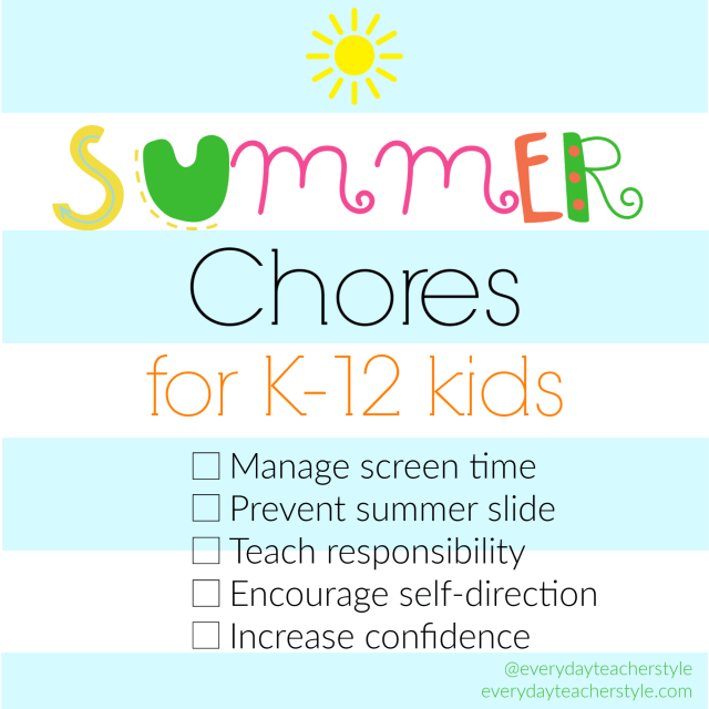 Summer Chores for K-12 Kids