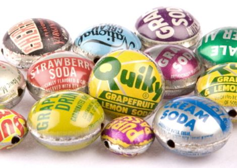recycled bottlecap beads