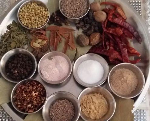 Homemade Chole Masala Ingredients