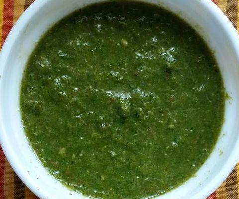 Green Chutney / Hara Dhaniya Chutney
