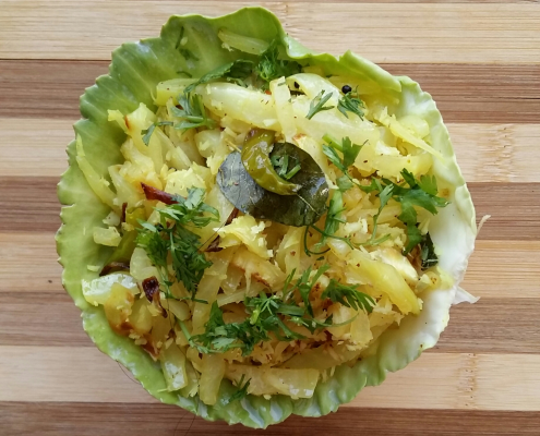 Cabbage Coconut Stir Fry