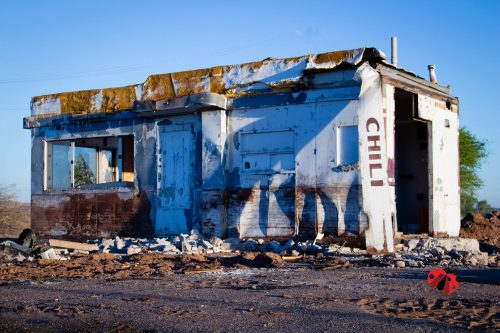 Remains of old Drive-Inn in Tucumcari, New Mexico