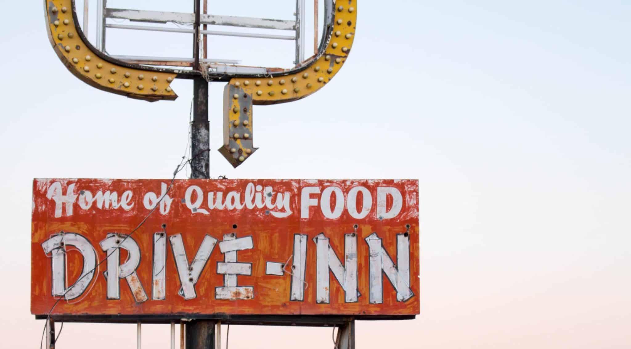 Abandoned Westerner Drive-Inn Along Route 66 in Tucumcari