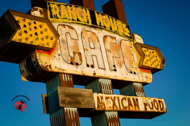 Ranch House Cafe Sign in Tucumcari, NM