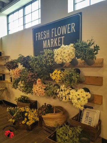 The Fresh Flower Market display at the Magnolia Market