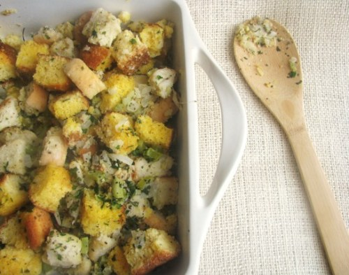 Use up stale bread by making cornbread stuffing
