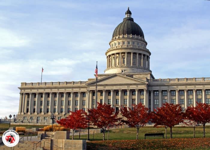 Exterior of the Utah State Capitol