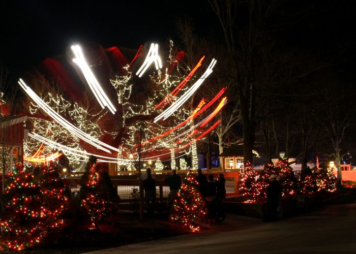 There are lights everywhere at WinterFest at Worlds of Fun
