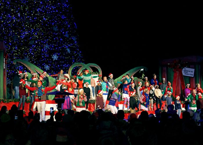 Tree Lighting Ceremony every night at WinterFest at Worlds of Fun