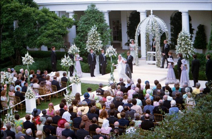 Photo of the Nixon/Cox Wedding courtesy of the Nixon Library and Museum