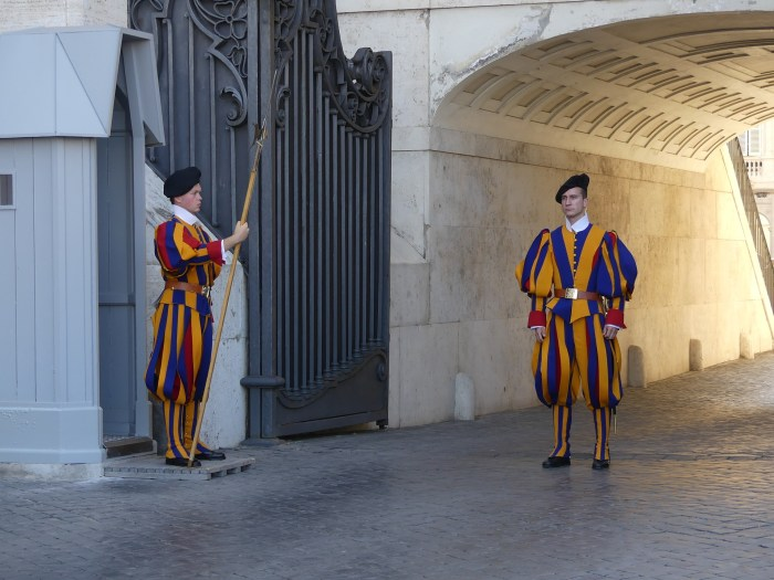 The Swiss Guard's uniform as featured in Dan Brown's Angels & Demons