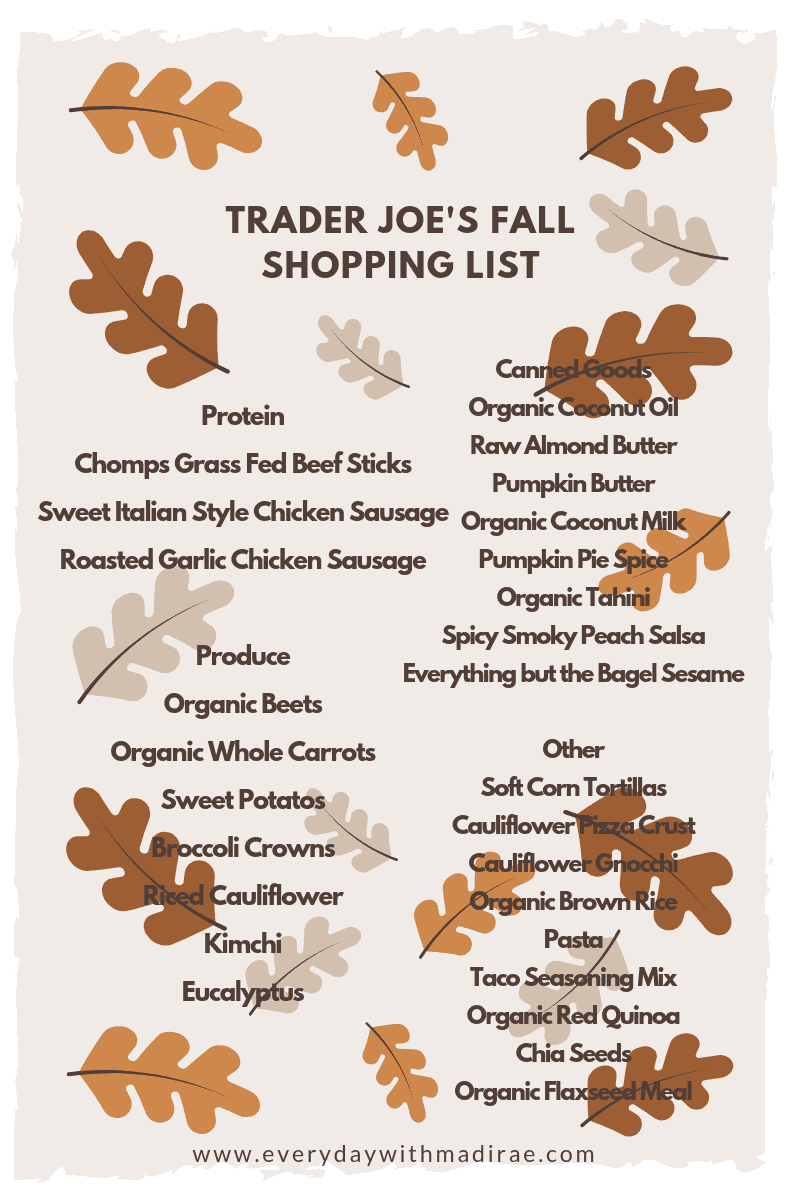 Trader Joe's Fall Shopping List
