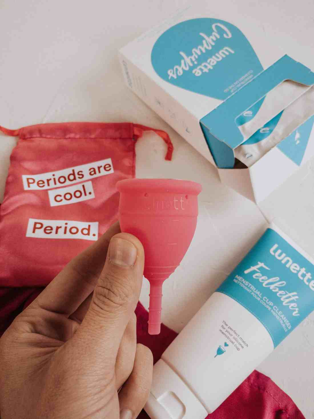 Here's everything you need to know about the Lunette Menstrual Cup, how to wear it, how to prevent leaks, the eco-friendly & body safe benefits & MORE!