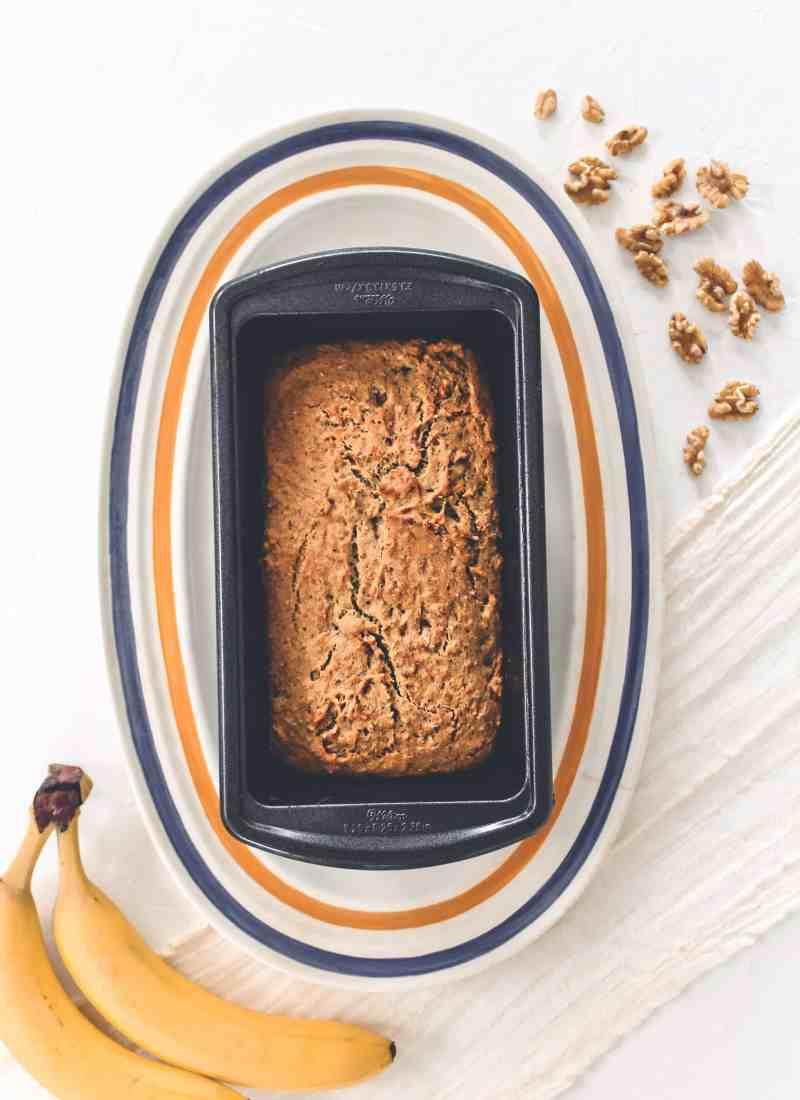 Healthy Gluten Free & Vegan Banana Bread