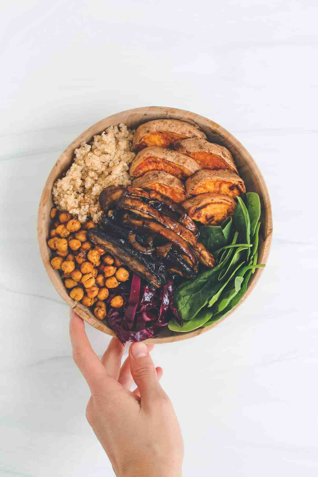 BBQ Portobello Mushroom Quinoa Bowl - Gluten Free & Vegan