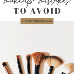 Makeup Brushes on a Beige Background