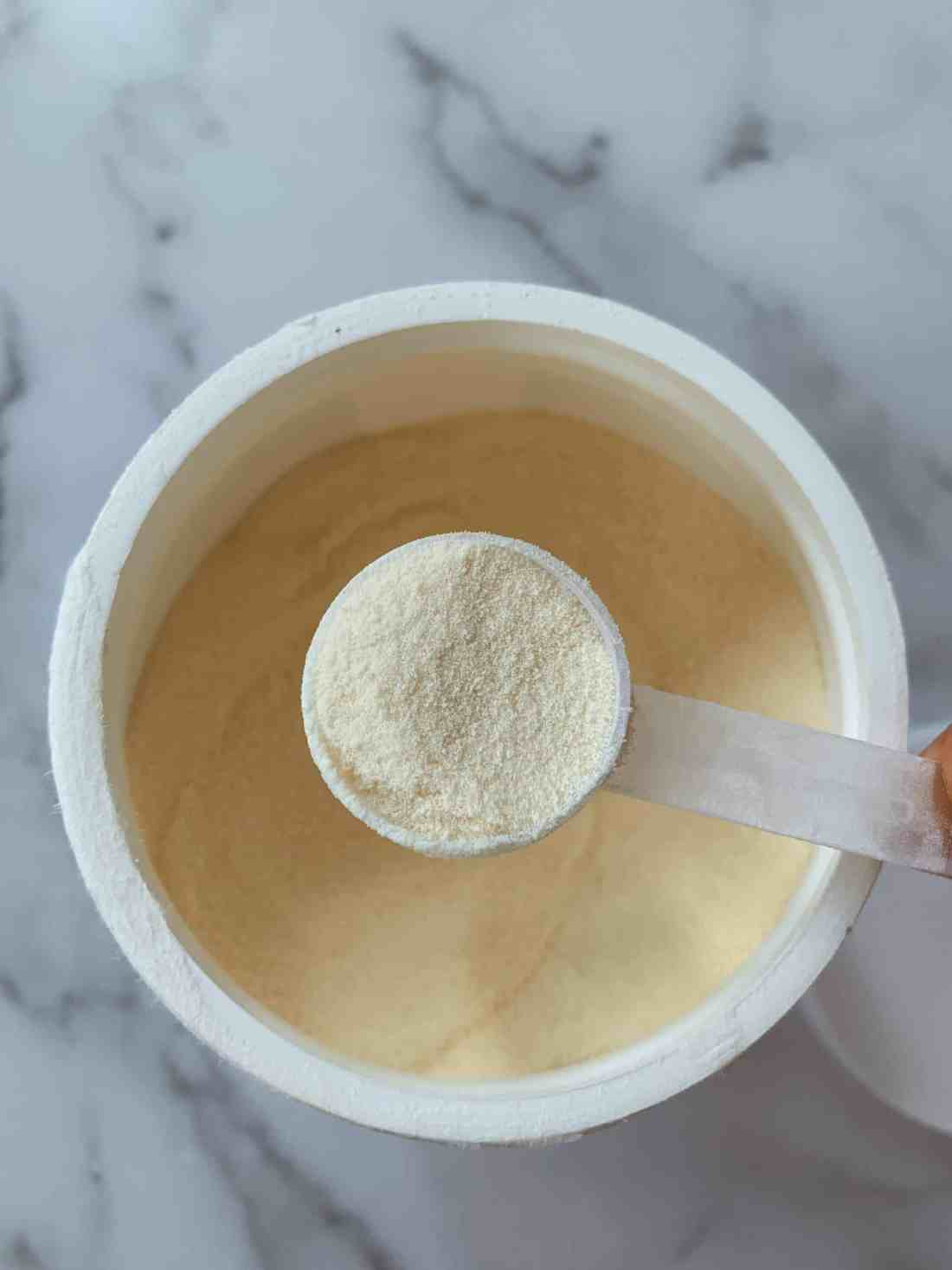 A scoop of Perfect Hydrolyzed Collagen.