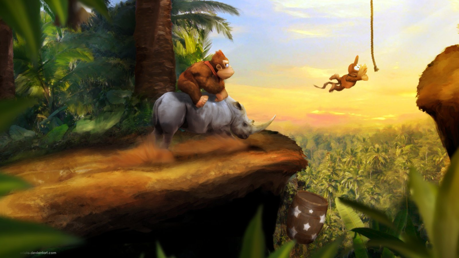 The majesty of this painting (yes, painting, digitally touched up afterwards) is breathtaking.  That DKC could inspire this sort of artistry speaks for its awesomeness.