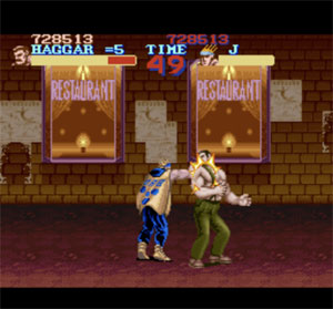 If you punch a man like Haggar it's time for CONSEQUENCES