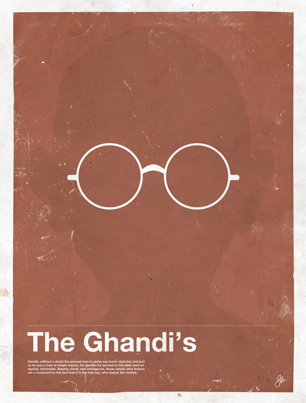 framework ghandi Framework   Eyewear Made Famous Posters