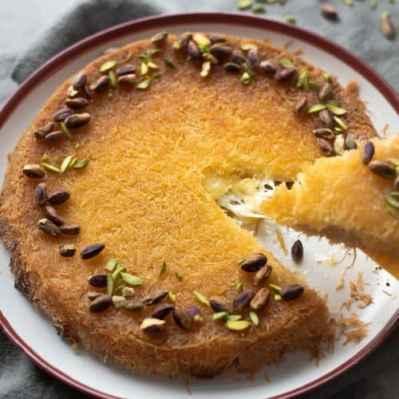 Kunafa - Mozzarella Cheese Kunafa- Every Little Crumb