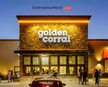 Golden Corral Menu With Prices [2021 Updated]