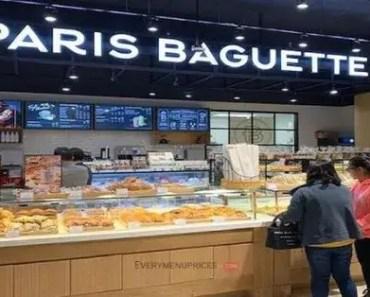 Paris Baguette Menu Prices [Latest 2021 Updated]